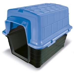 Casa plastica N2 - Azul - Furacao Pet - 52x41x40cm