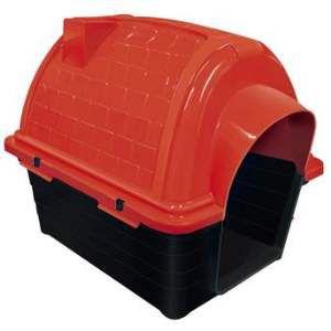 Casa plastica iglu N4 vermelha - Furacao Pet - 67x50x58cm