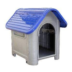 Casa plastica dog home N3 azul - MEC PET - 73x55x65cm