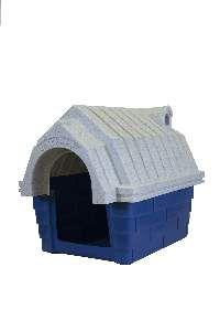 Casa plastica chamine N2 azul - Click New - 63x45,5x51,5cm