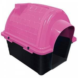 Casa plastica iglu N5 - Rosa - Furacao Pet - 100x75x82cm