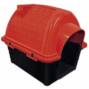 Casa plastica iglu N5 - Vermelha - Furacao Pet - 100x75x82cm