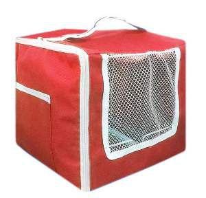 Bolsa de transporte nylon para passaros luxo vermelha - Beneh Dog - 90x80x27cm
