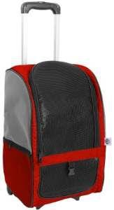 Bolsa de transporte sintetico com roda vermelho - Sak's - 42x50x25cm
