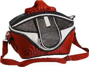Bolsa de transporte poliester com cama vermelha - Sak's - 34x26x26cm