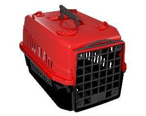 Caixa de transporte podyum N1 vermelha - MEC PET - 42x32x28cm