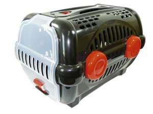 Caixa de transporte luxo N1 - Black com vermelho - Furacao Pet - 43x30x28,5cm - até 4kg