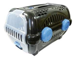 Caixa de transporte luxo N1 - Black com azul - Furacao Pet - 43x30x28,5cm - até 4kg