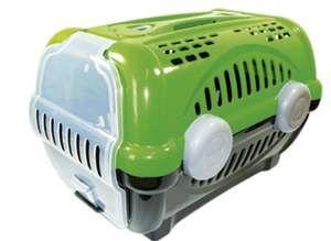 Caixa de transporte luxo N1 - Verde - Furacao Pet - 43x30x28,5cm - até 4kg