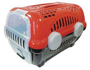 Caixa de transporte luxo N3 - Vermelha - Furacao Pet - 60x40x36,5cm - até 12kg