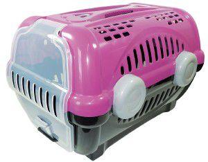 Caixa de transporte luxo N3 - Rosa - Furacao Pet - 60x40x36,5cm - até 12kg