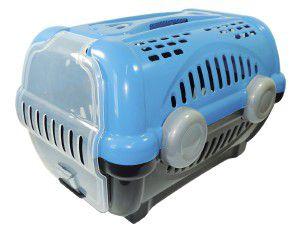 Caixa de transporte luxo N3 - Azul - Furacao Pet - 60x40x36,5cm - até 12kg