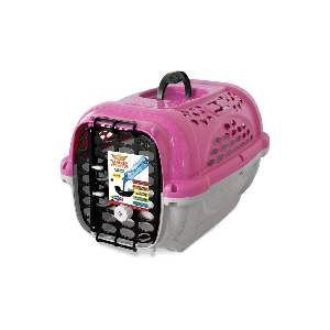 Caixa de Transporte Panther Nº 4 sem bebedouro - Plast Pet - Rosa - 59x43x38cm