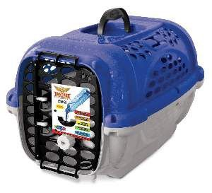 Caixa de Transporte Panther Nº 4 sem bebedouro - Plast Pet - Azul - 59x43x38cm