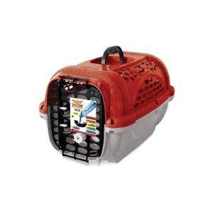 Caixa de Transporte Panther sem Bebedouro Nº 1 - Plast Pet - Vermelha - 44x31x27cm