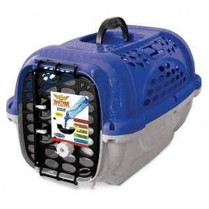 Caixa de Transporte Panther sem Bebedouro Nº 1 - Plast Pet - Azul - 44x31x27cm
