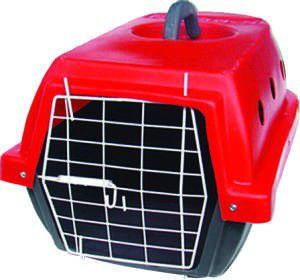 Caixa de Transporte Nº 1 - Plast-Kão - Vermelha - (34 cm x 29 cm x 50 cm)