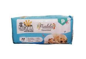 Fralda higienica descartavel P - Savana - com 12 unidades