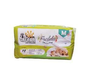 Fralda higienica descartavel M - Savana - com 12 unidades