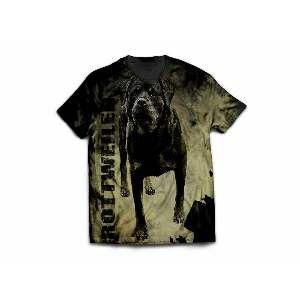 Camiseta poliester rotweiller modelo 4 GG - Club Pet Dantas - 77x58cm