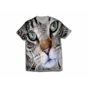 Camiseta poliester cara de gato GG - Club Pet Dantas - 77x58cm