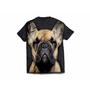 Camiseta poliester bulldog frances GG - Club Pet Dantas - 77x58cm