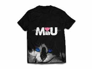 Camiseta poliester miau M - Club Pet Dantas - 64x50cm