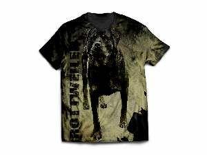 Camiseta poliester rotweiller modelo 4 M - Club Pet Dantas - 64x50cm