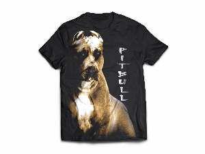 Camiseta poliester pit bull P - Club Pet Dantas - 60x45cm