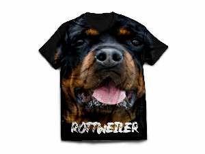 Camiseta poliester rotweiller modelo 1 M - Club Pet Dantas - 64x50cm