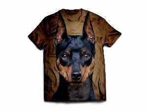 Camiseta poliester pinscher M - Club Pet Dantas - 64x50cm