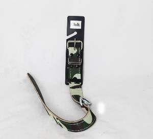 Coleira couro camuflada com distorcedor 8 - Club Pet Master - 29mm x 60,5cm