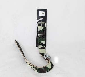 Coleira couro camuflada com distorcedor 7 - Club Pet Master - 29mm x 57,5cm