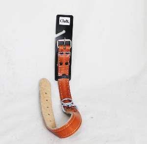 Coleira couro cuplo com distorcedor 8 - Club Pet Master - 29mm x 60,5cm