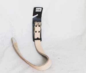 Coleira couro natural duplo 7 - Club Pet Master - 29mm x 57,5cm