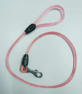 Guia de borracha para caes rosa - Sao Raphael - 10 mm x 1,2 m