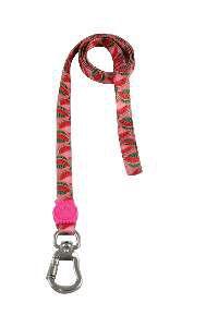 Guia de Seda Pink Skull Premium P - Club Pet - (15 mm x 120 cm)