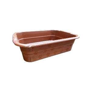 Bandeja higienica plastica marrom - Club Pet Maxx - 47x36x14cm
