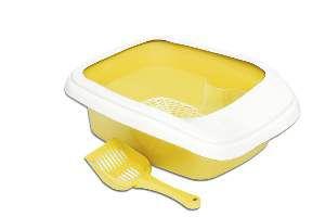 Bandeja higienica plastica furba com borda amarela - Alvorada - 46x40x17cm