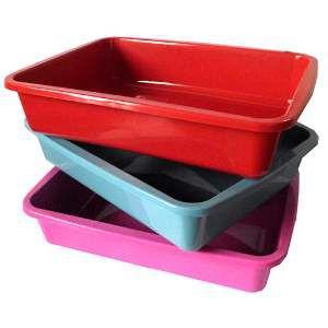 Bandeja higienica plastica vermelha - Club Still Pet - 40x31x8,5cm