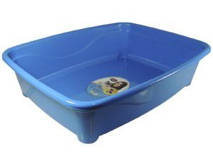 Bandeja higienica plastico classic para gatos - Furacão Pet - Azul - 45x36x13cm