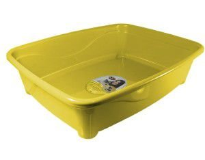 Bandeja higienica plastico classic para gatos - Furacão Pet - Amarela - 45x36x13cm