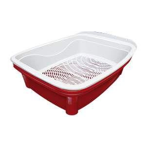Bandeja higienica classic plus vermelha - Furacao Pet - 48x37,5x16cm