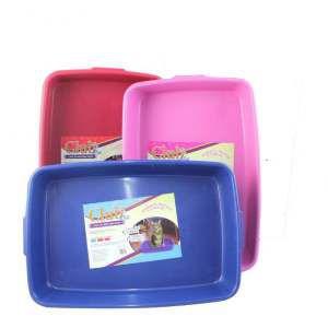Bandeja higienica plastica mista - Club Pet Duplas - com 12 unidades - 41x27,5x6,7cm
