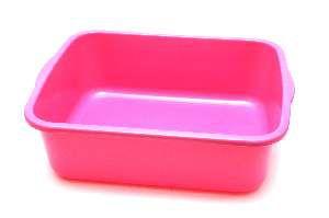 Bandeja higienica plastica color elite rosa - Four Plastic - 46x38x15cm