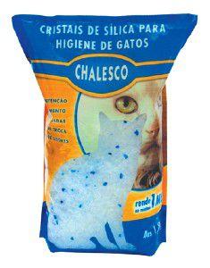 Areia higienica silica para gatos - Chalesco - 1,8 kg - com 8 unidades