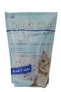 Areia higienica silica para gatos - Chalesco - 1,6 kg - com 8 unidades