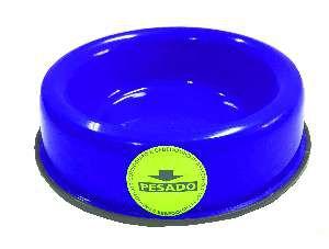 Comedouro pesado pata/osso gato azul 150ml - Club Still Pet - 13x3cm
