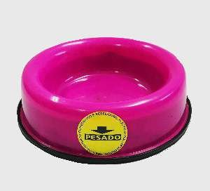 Comedouro pesado pata/osso gato rosa 150ml - Club Still Pet - 13x3cm