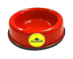Comedouro pesado pata/osso gato vermelho 150ml - Club Still Pet - 13x3cm